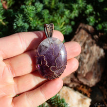 Load image into Gallery viewer, tree of life oval amethyst pendant