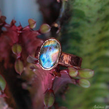 Load image into Gallery viewer, Blue Labradorite Ring Size 8.5US
