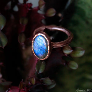 Blue Labradorite Stacking Ring size 7us
