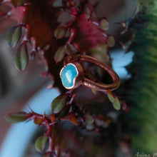 Load image into Gallery viewer, electroformed aquamarine ring