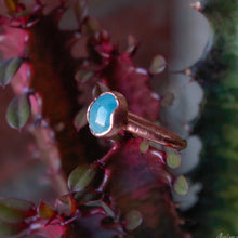 Load image into Gallery viewer, aquamarine copper ring
