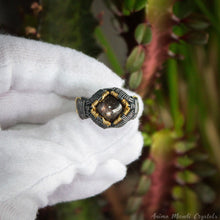 Load image into Gallery viewer, Star ruby Ring 11US | Wire Wrapped Mens Crystal Ring | Chunky Ring