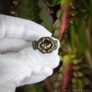 Star ruby Ring 11US | Wire Wrapped Mens Crystal Ring | Chunky Ring