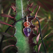 Load image into Gallery viewer, amethyst pendant with carnelian stone
