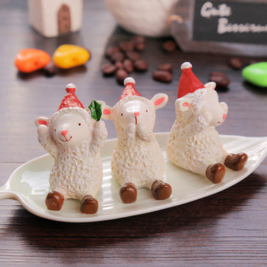 A14869 Christmas cute resin craft set of 1