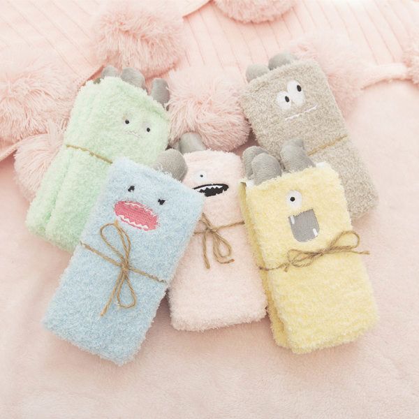 A10092 socks small cute short sockswomen cartoon coral socks