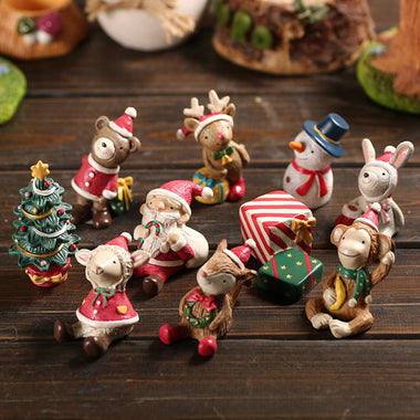 A14851 Christmas cute resin craft set of 8