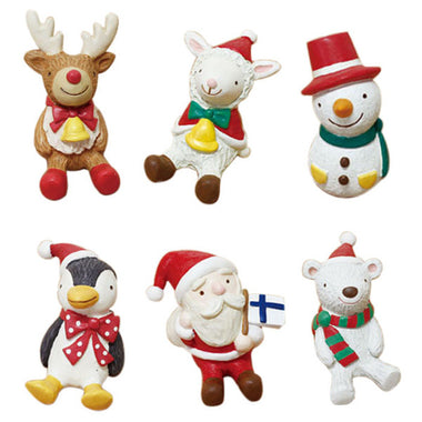 A14855 Christmas cute resin craft set of 8