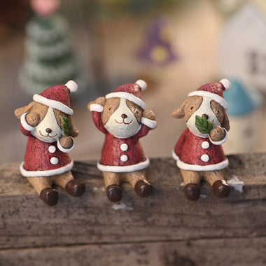 A14862 Christmas cute resin craft set of 8