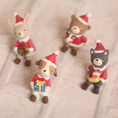 A14863 Christmas cute resin craft set of 4