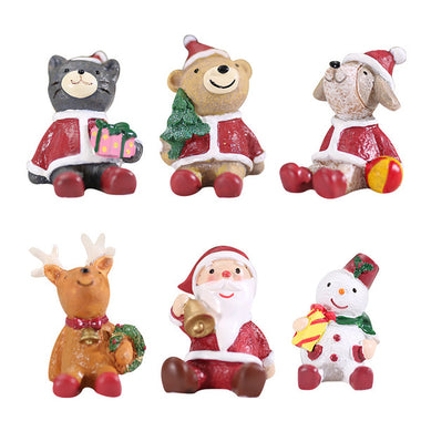 A14875 Christmas cute resin craft set of 7