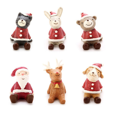 A14867 Christmas cute resin craft set of 10
