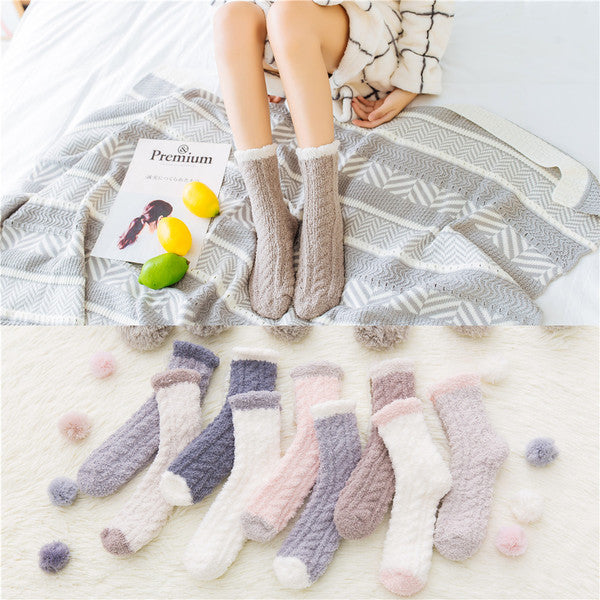 A10093 coral socks women sockssocks