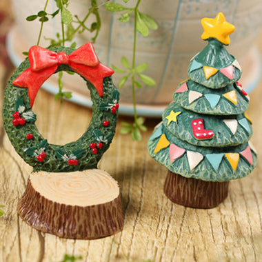 A14861 Christmas cute resin craft set of 2
