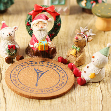 A14856 Christmas cute resin craft set of 8