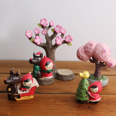 A14876 Christmas cute resin craft set of 3