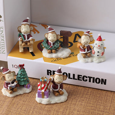 A14853 Christmas cute resin craft set of 5