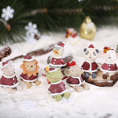 A14870 Christmas cute resin craft set of 7