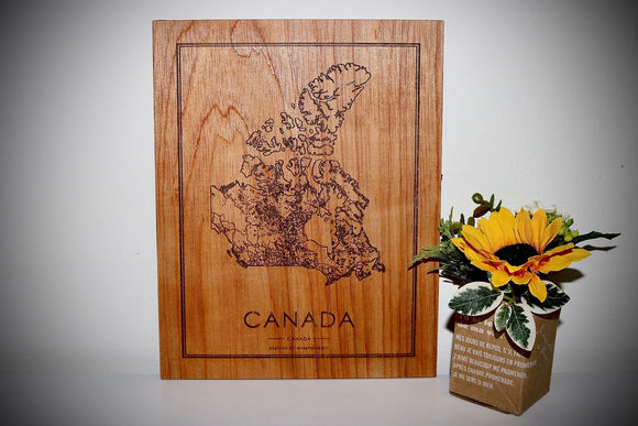 Wood Canada Country Map - Country Maps, Perfect Housewarming Gift!