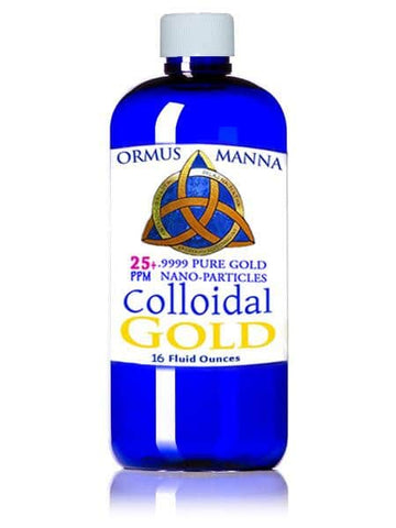 Image of 16 oz COLLOIDAL GOLD 24K 99.99 ~ PURE Gold Nanoparticles in distilled water
