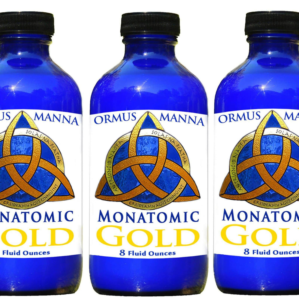 Large 3 Pack Combo Ormus Manna Monatomic Gold DNA Repair, anti-aging supplement