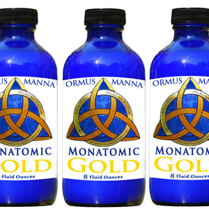 3 PACK of 8 oz MONATOMIC GOLD ORMUS MANNA DNA Repair, Heightened Awareness Ormus Gold