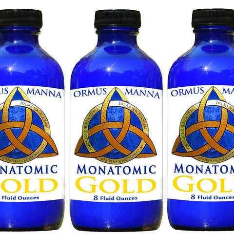 Image of 3 PACK of 8 oz MONATOMIC GOLD ORMUS MANNA DNA Repair, Heightened Awareness Ormus Gold