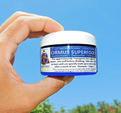 ORMUS SUPERFOOD MINERAL COMPLEX! 8 OZ, DNA REPAIR DETOX PINEAL GLAND open 3rd eye