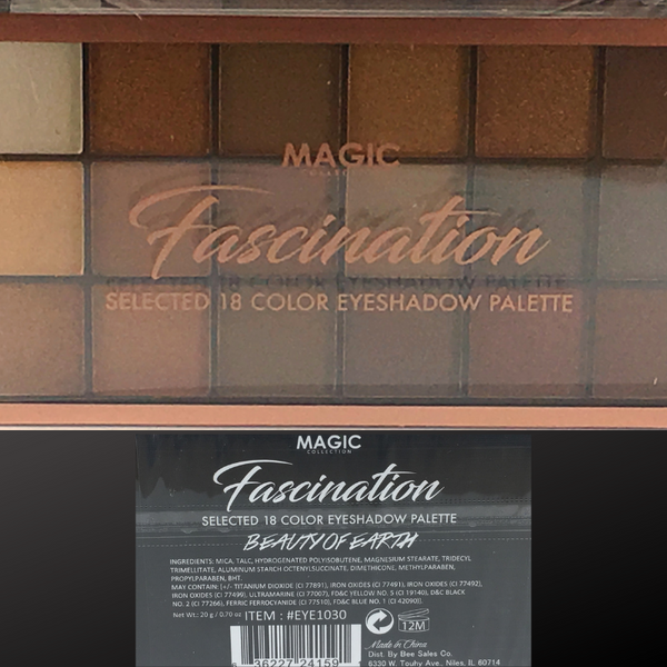 MAGIC COLLECTION FASCINATION 18 COLOR EYESHADOW PALETTE