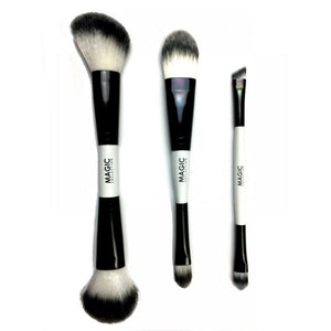 Magic Collection Dual Ended Blending & Contouring Make-Up Brush 3pcs Set #MTO004