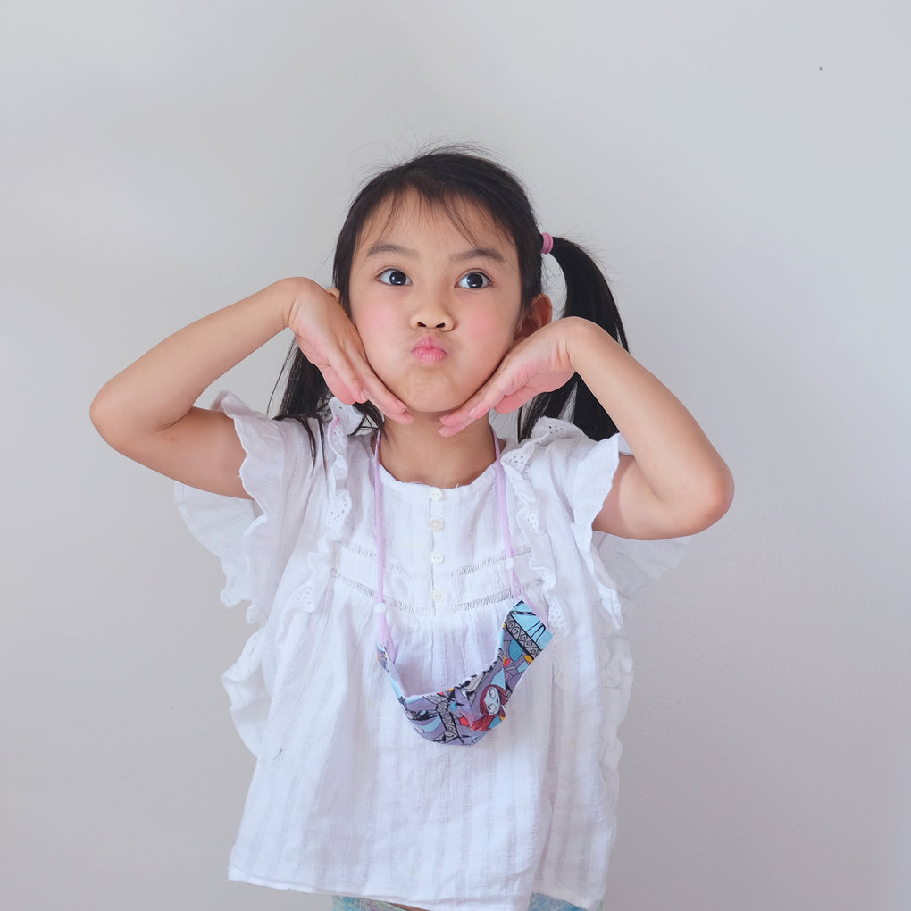 [STYLE A] -- All-In-One Fitted Face Mask -- KIDS COLLECTION #1