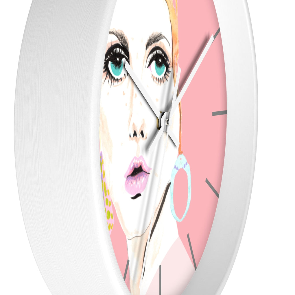TWIGGY PINK CLOCK
