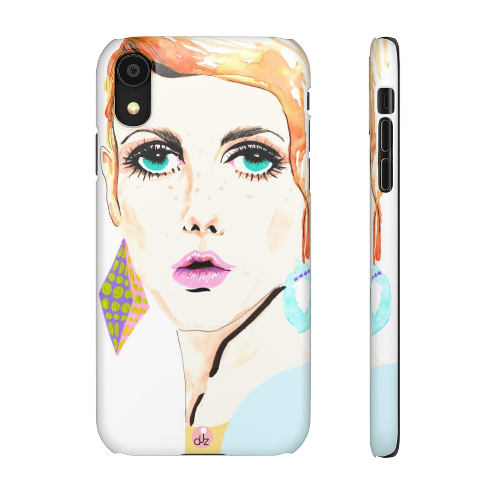 TWIGGY WHITE iPHONE CASES