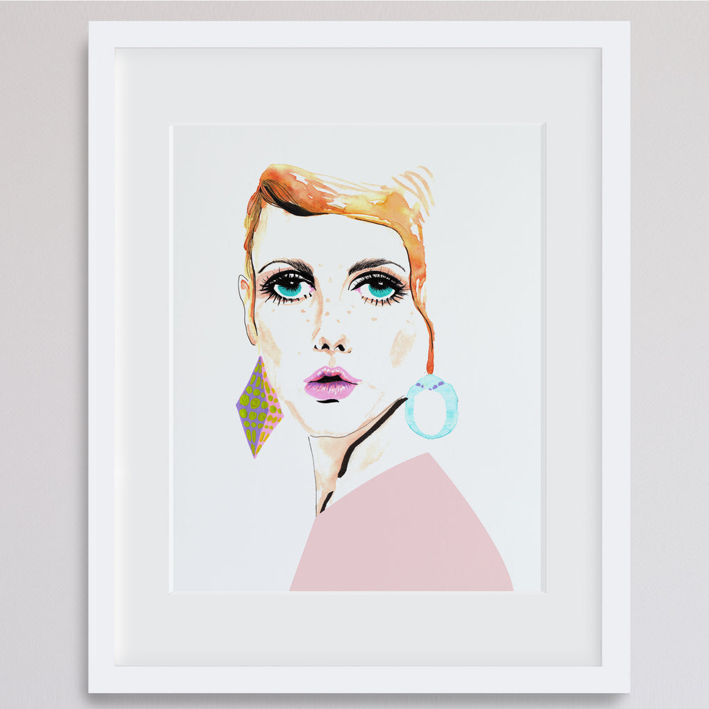 TWIGGY FASHIONISTA ARCHIVAL ART PRINT