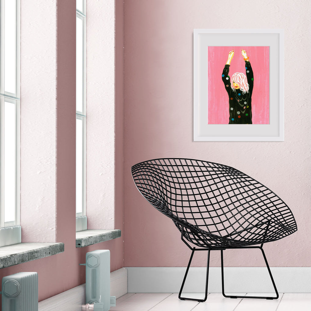 DANCE WITH ME PINK ARCHIVAL ART PRINT