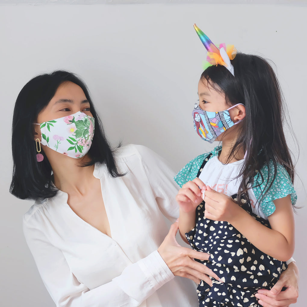 [STYLE C] -- Simple Fitted Face Mask -- FLORAL COLLECTION #2