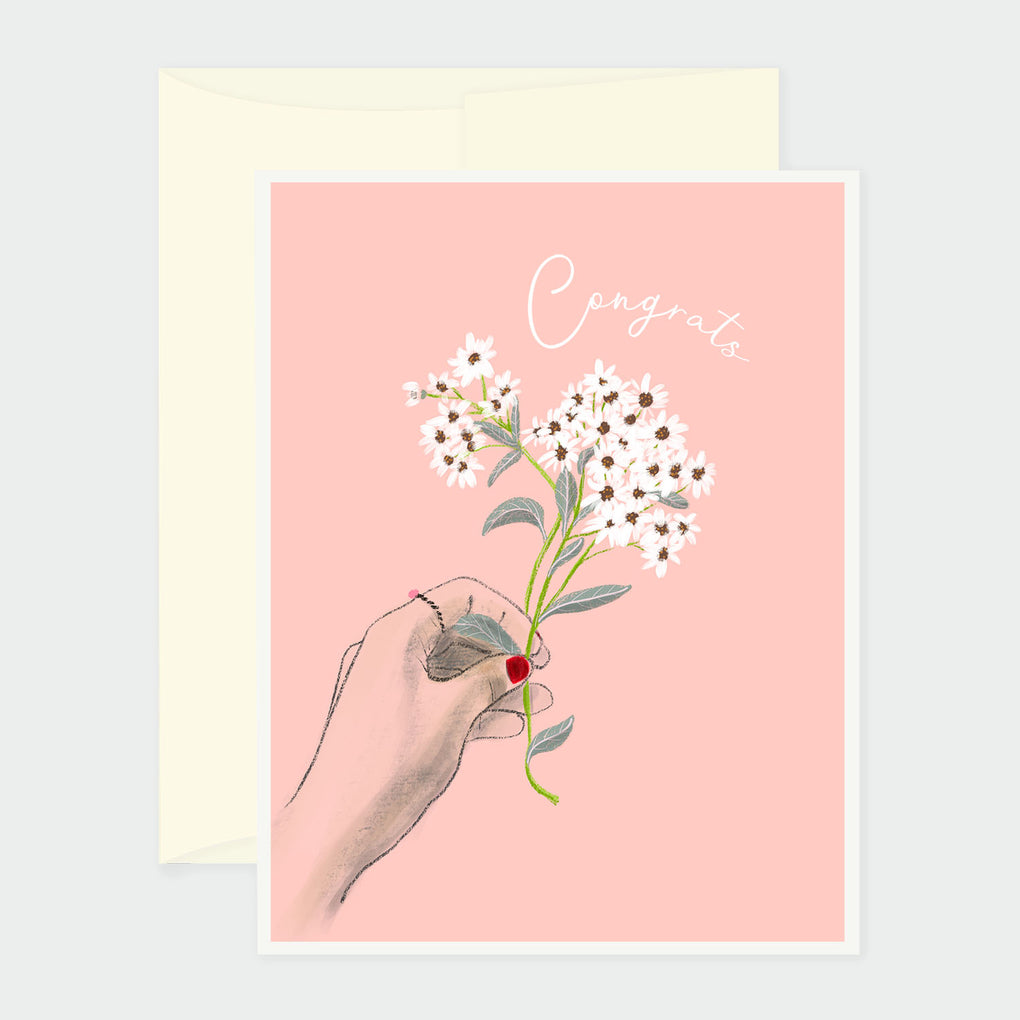GIVING FLOWERS - CONGRATS CARD