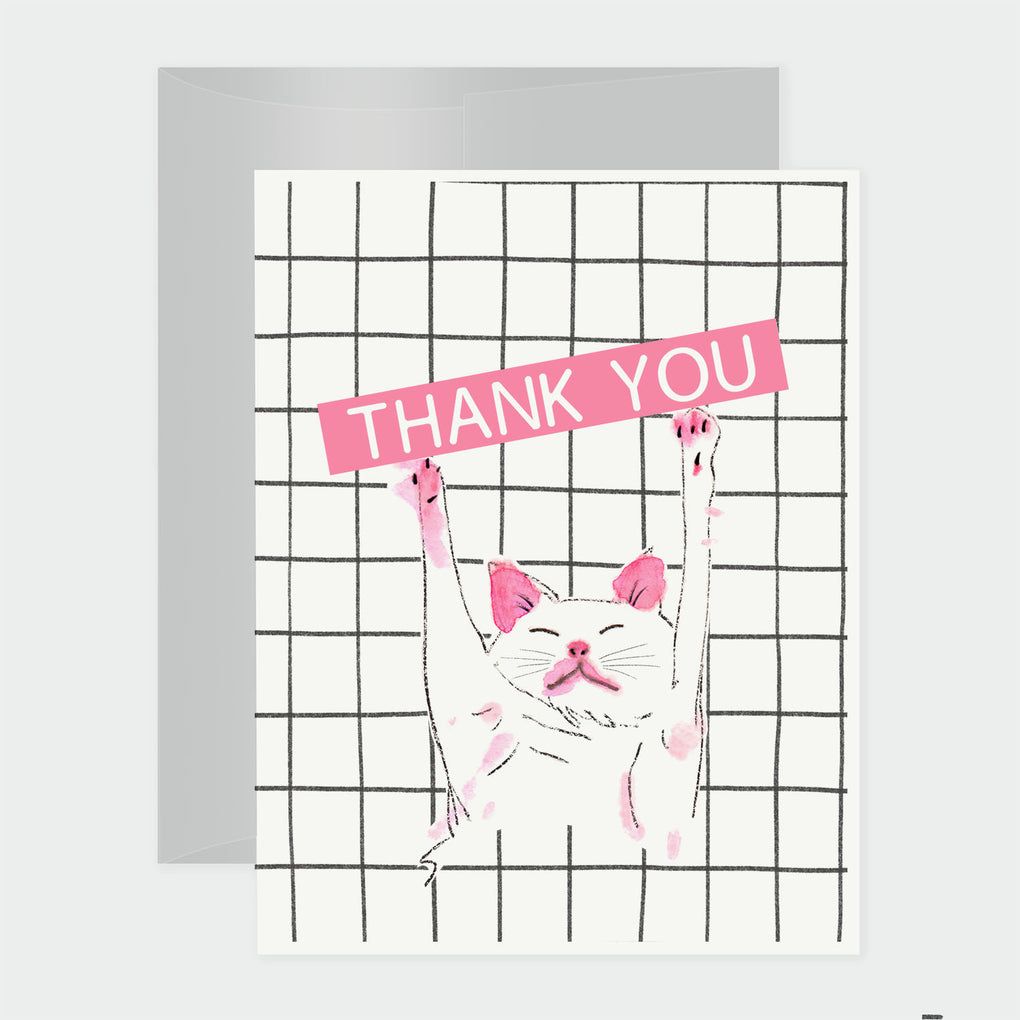 SLEEPING CAT - THANK YOU CARD