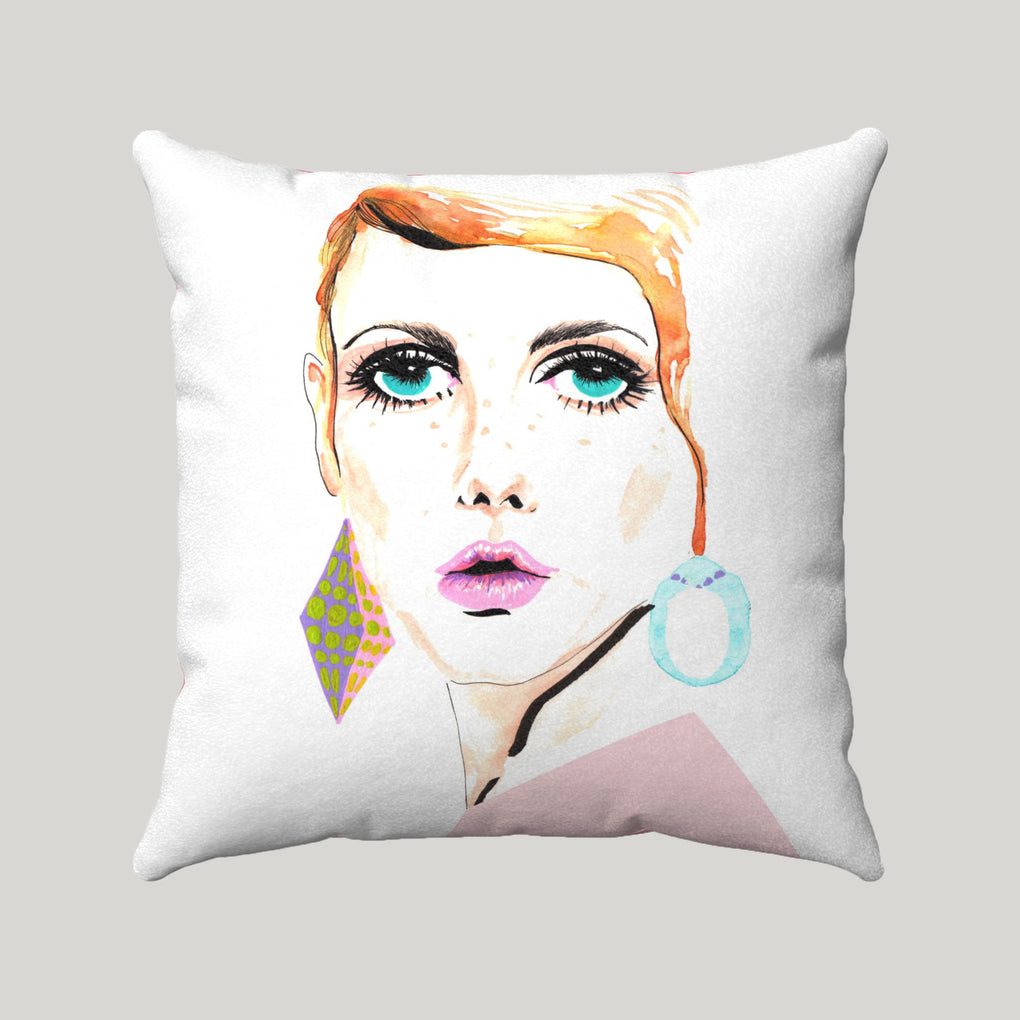 TWIGGY PINK SUPER SOFT WHITE PILLOW