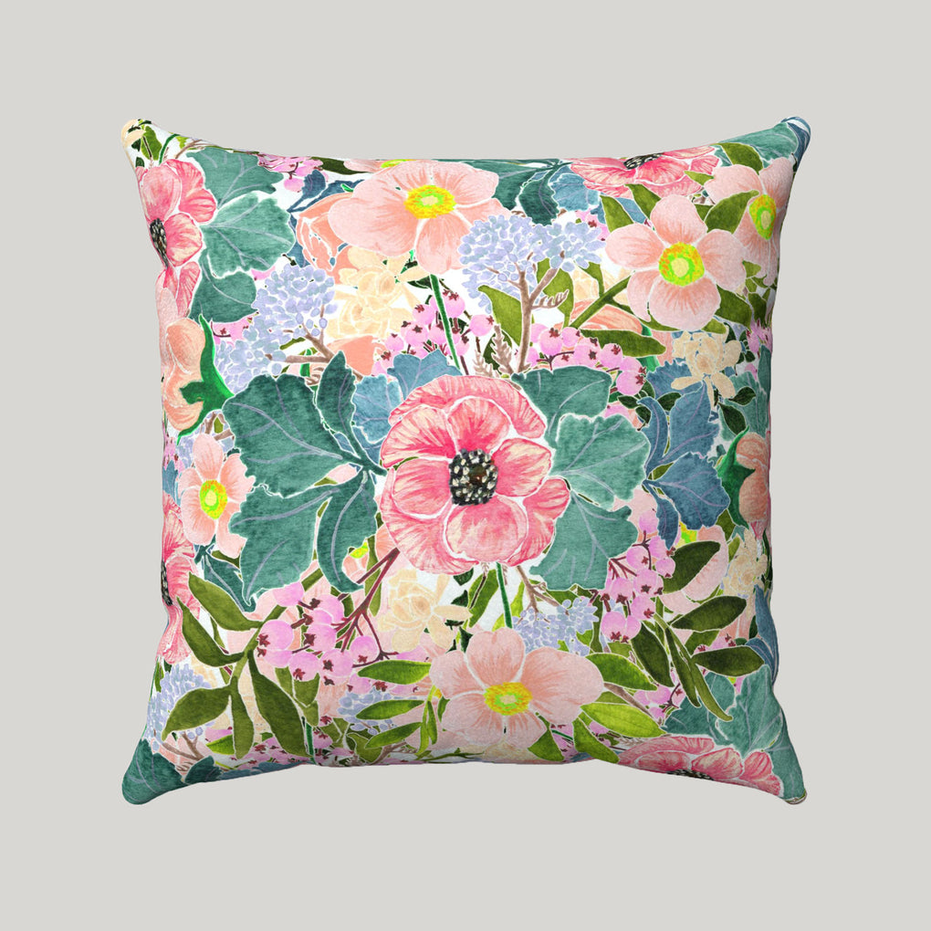 FULL BOUQUET OF FLOWERS SUPER SOFT PILLOW