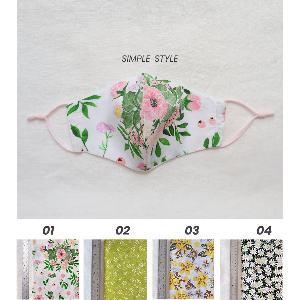 SIMPLE FITTED FACE MASK - FLORAL COLLECTION #1