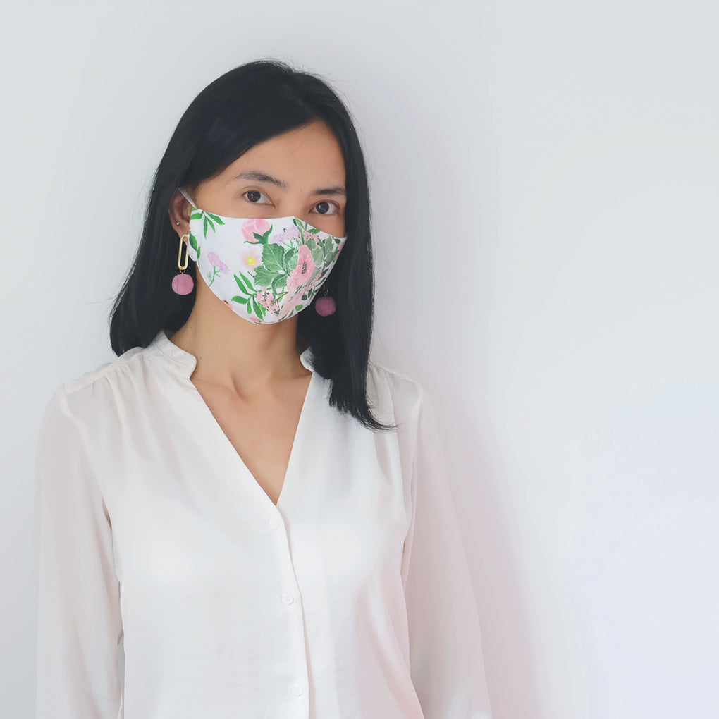[STYLE C] -- Simple Fitted Face Mask -- GRAPHIC COLLECTION #1