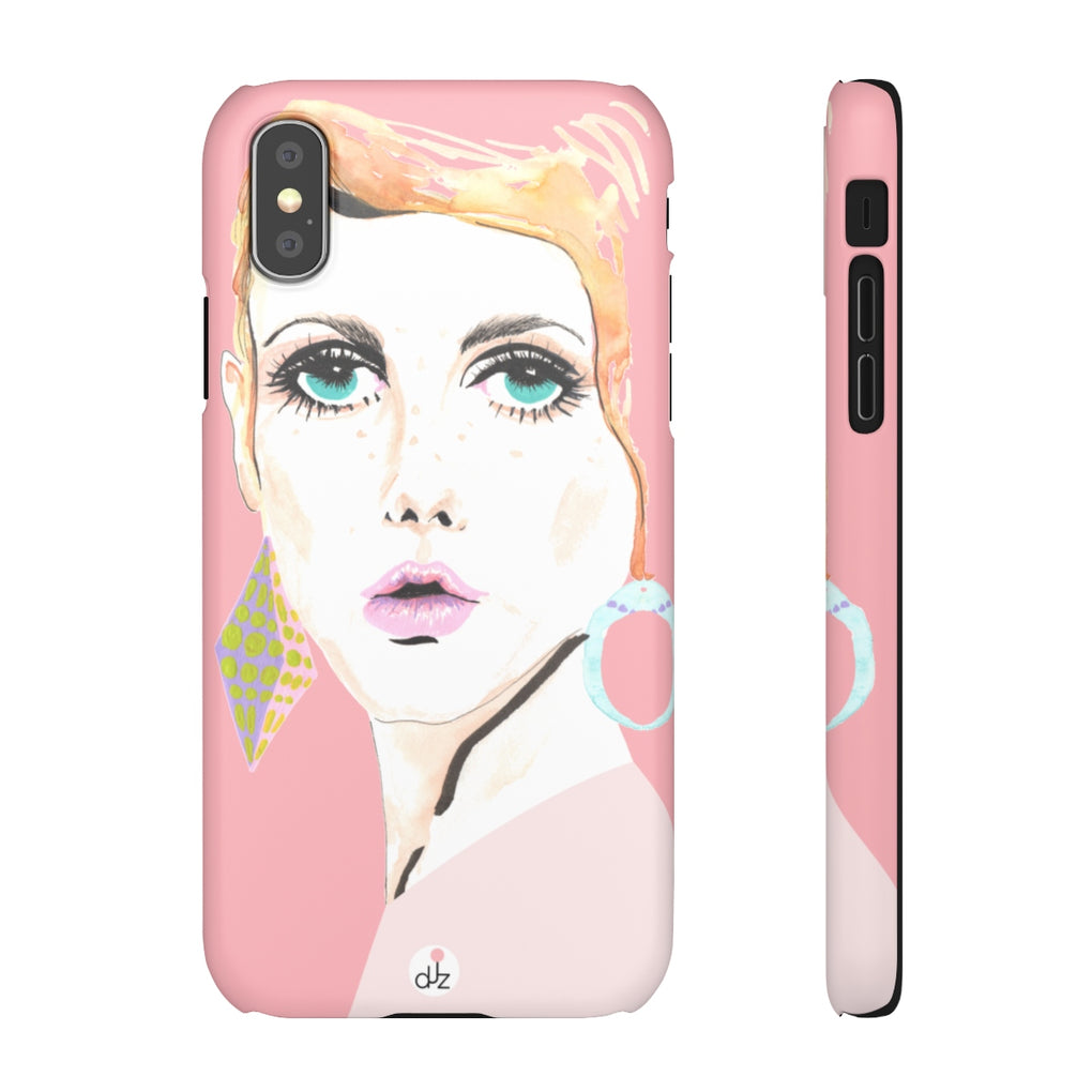TWIGGY PINK iPHONE CASES