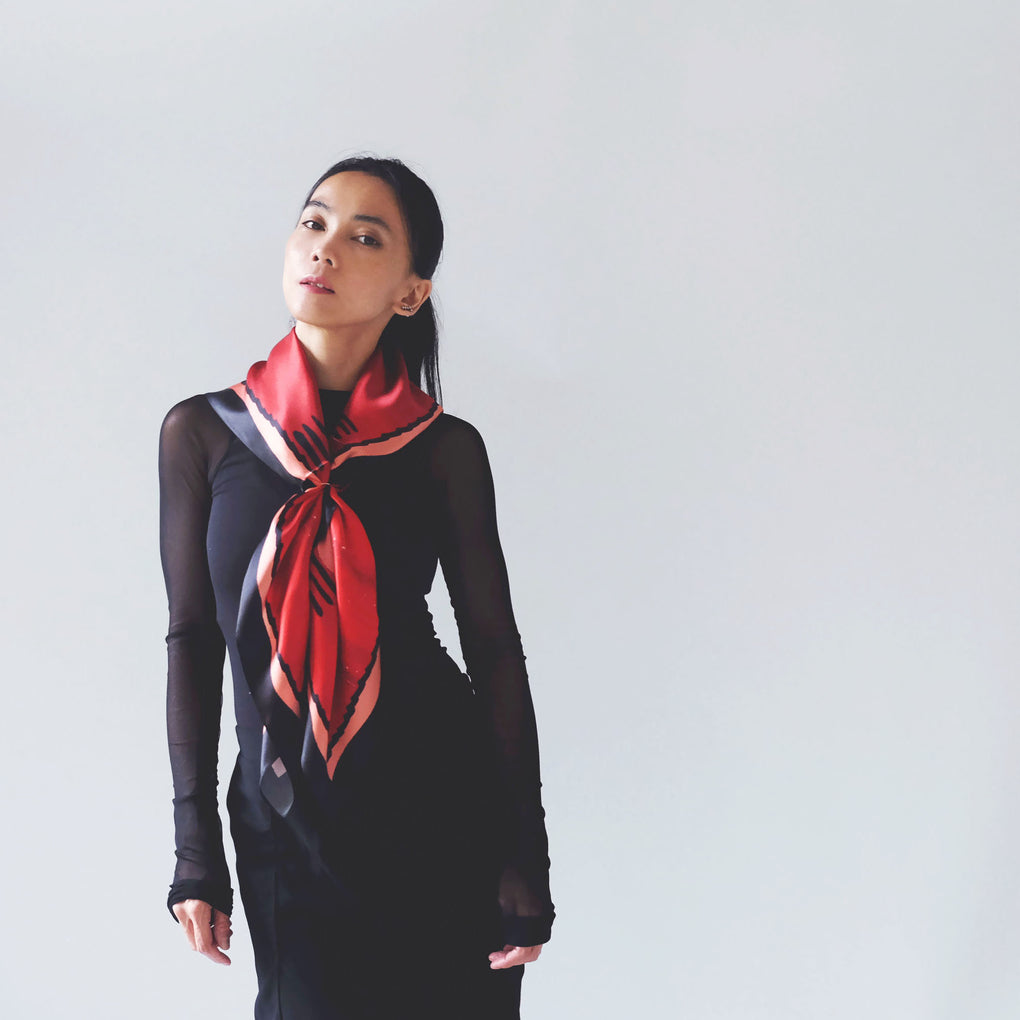 THE IMPERFECTION FLOW BRICK SILK SCARF
