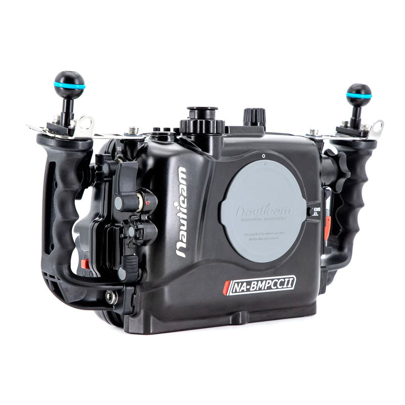 Nauticam NA-BMPCCII Housing for Blackmagic Pocket Cinema Camera 4k (Incl. vacuum valve and 4 x 18650 battery holder, excl. batteries)