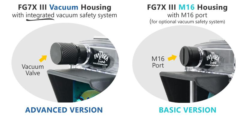 Fantasea FG7XIII M16 Housing for Canon G7X Mark III Camera (Basic/with Vacuum)