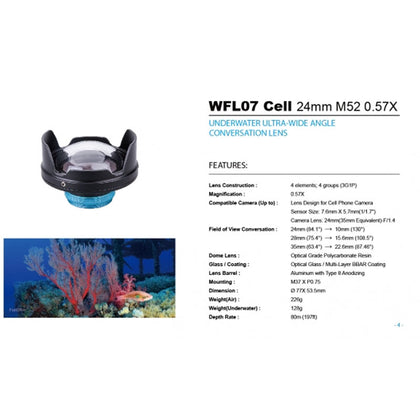 Weefine WFL07 Cell Wide-Angle Lens