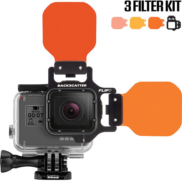 Backscatter FLIP7 Three Filter Kit with SHALLOW, DIVE & DEEP Filters for GoPro 3, 3+, 4, 5, 6, 7