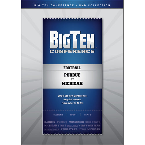2009 Big Ten Conference Football: Purdue vs. Michigan