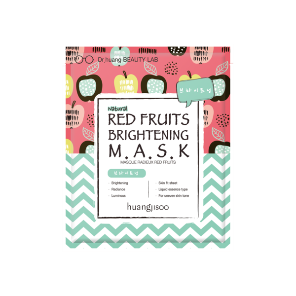 Red Fruits Brightening Sheet Mask * 5ea - Briseis Beauty